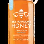 Bee Harmony Tropical Raw Hawaii Honey Jar