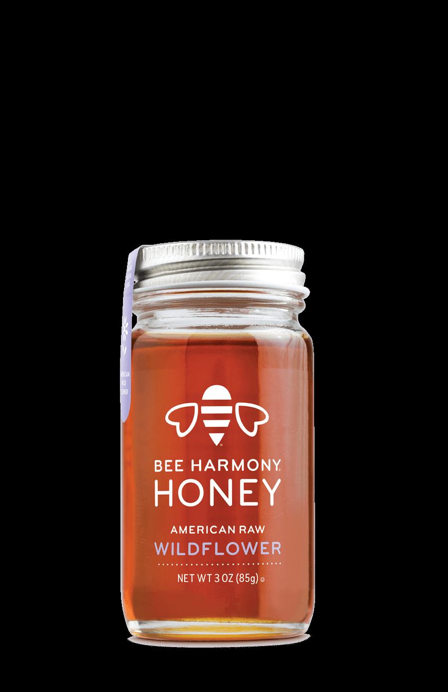 Bee Harmony - American Wildflower 3oz Honey Jar - Beesponsible