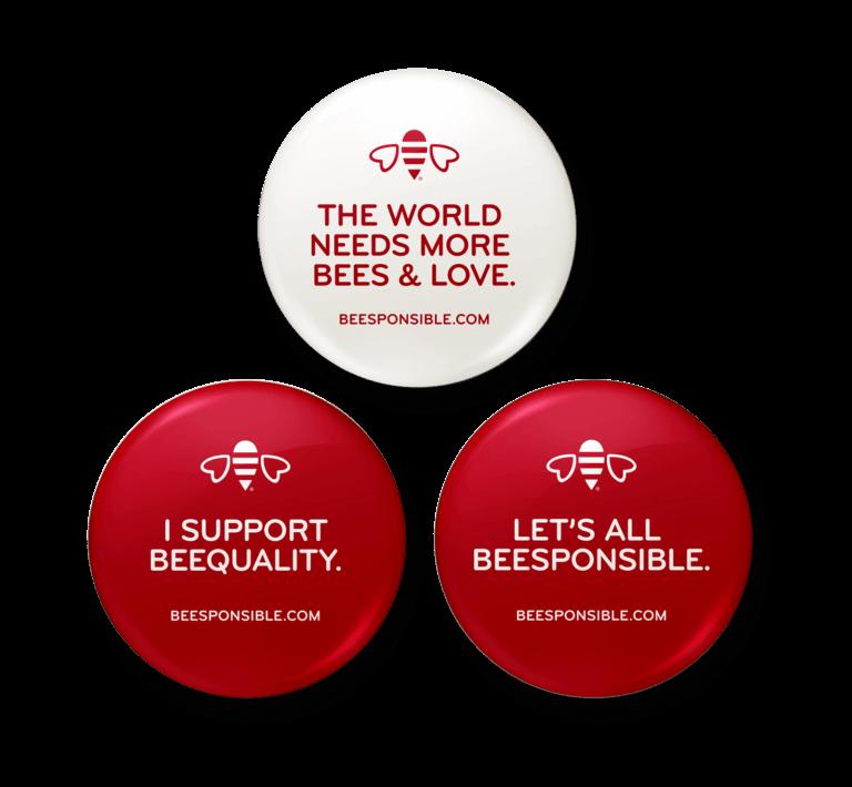 Beesponsible Button Set